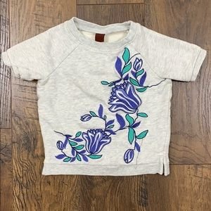 Tea Collection Embroidered Floral Sweatshirt
